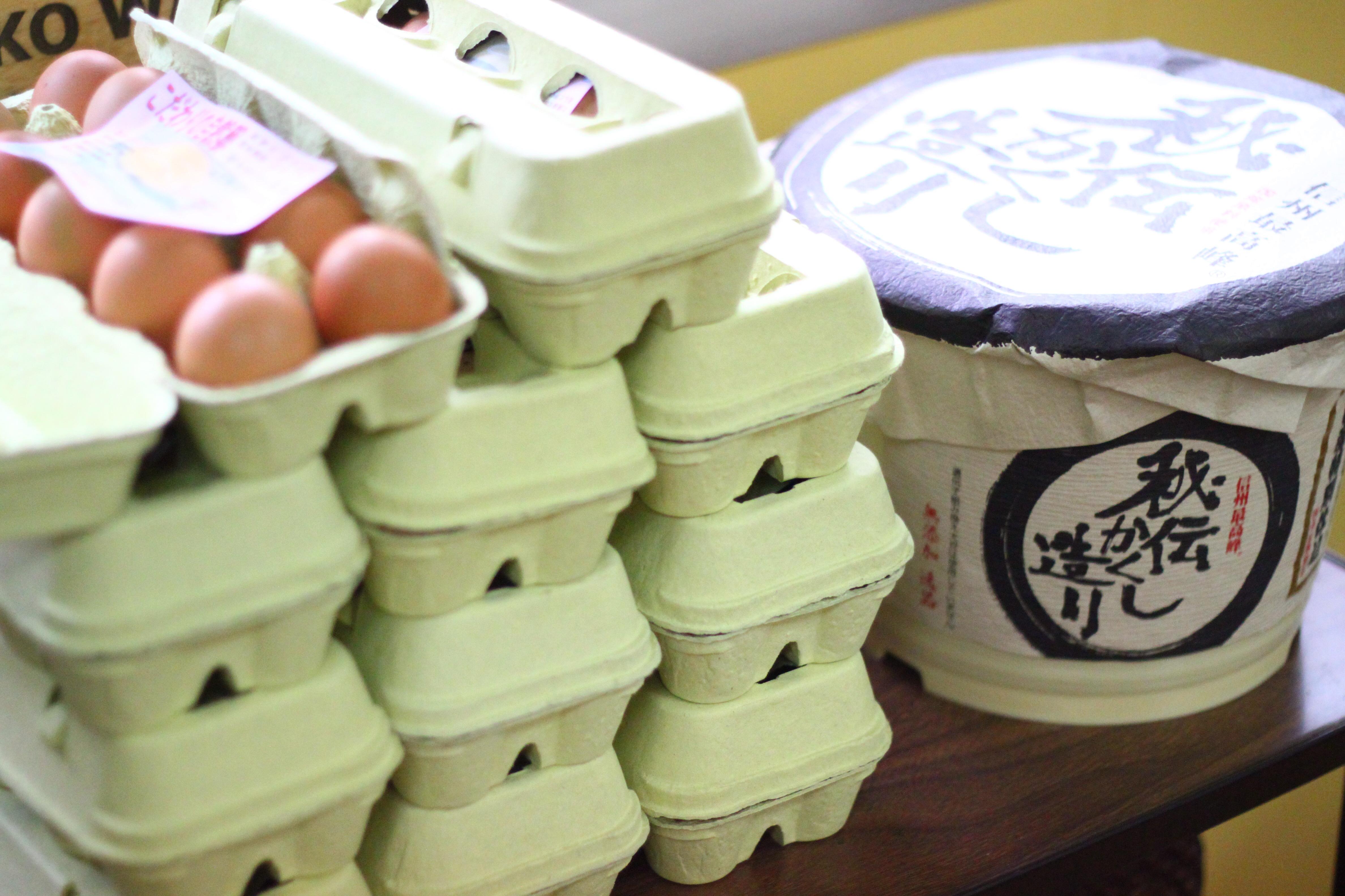 朝どり卵を生徒さまに!